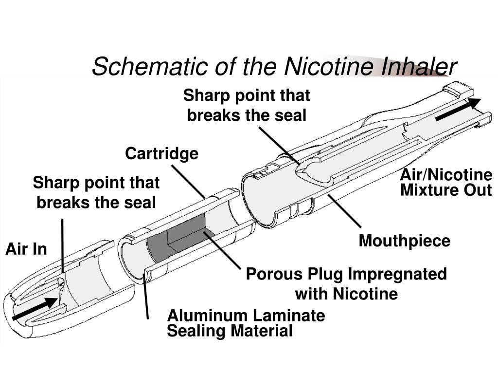Schematic of the Nicotine Inhaler