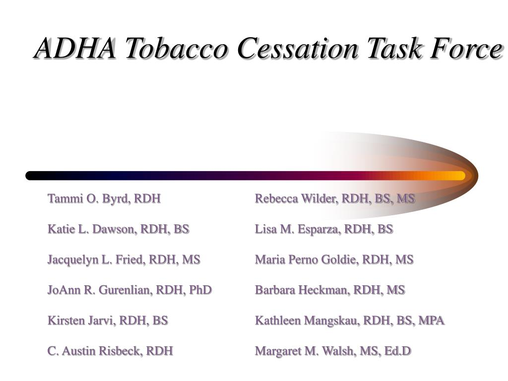 ADHA Tobacco Cessation Task Force