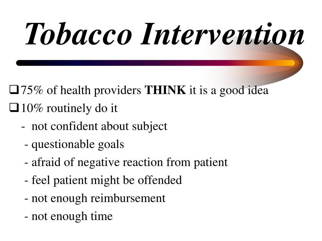 Tobacco Intervention
