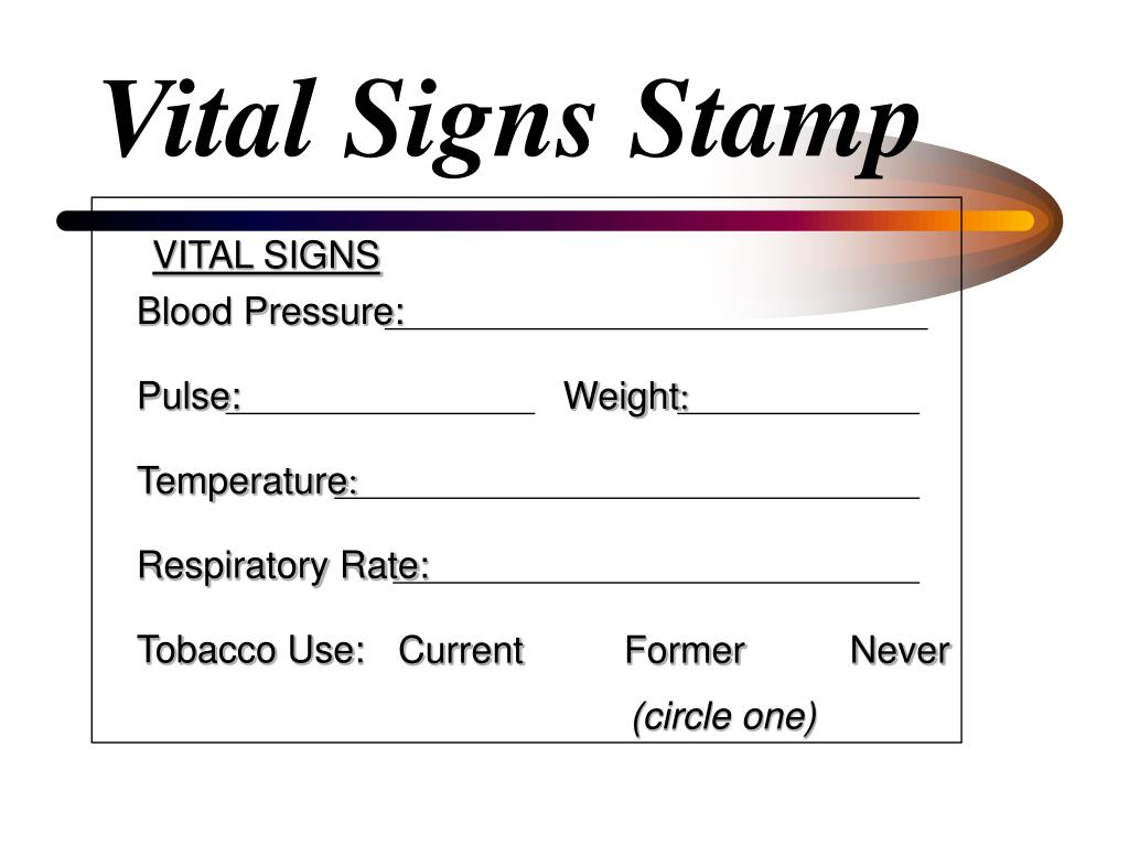 Vital Signs Stamp