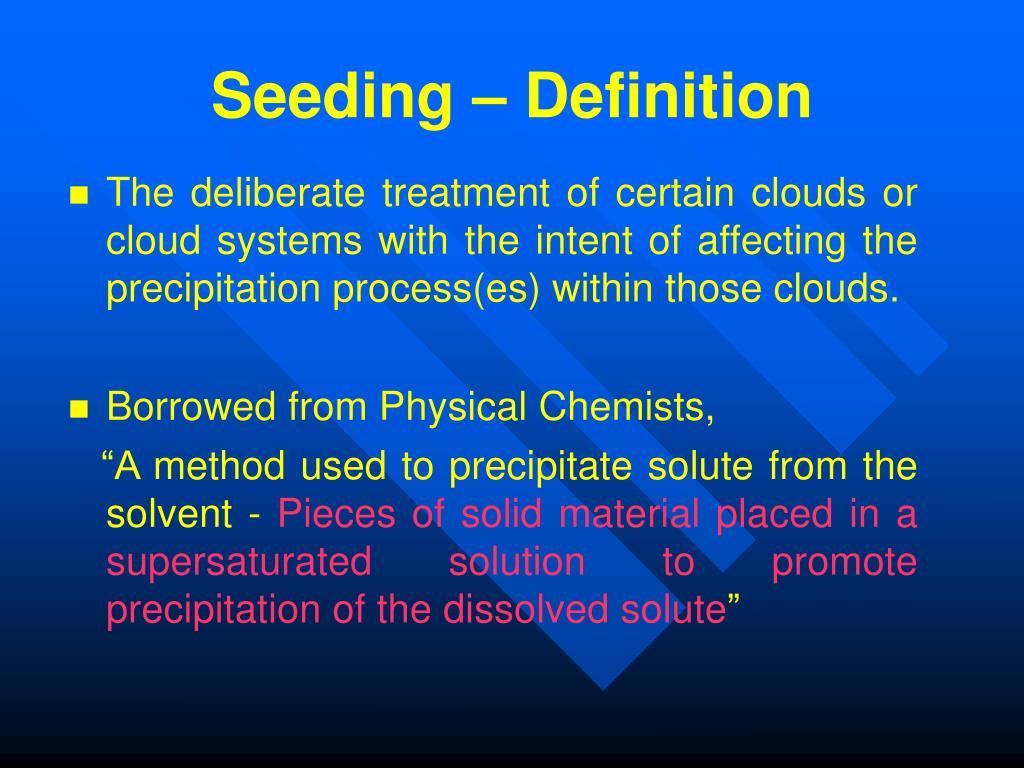 Seeding – Definition