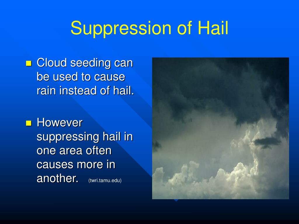 Suppression of Hail