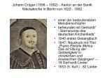 johann cr ger 1598 1662 kantor an der sankt nikolaikirche in berlin von 1622 1662