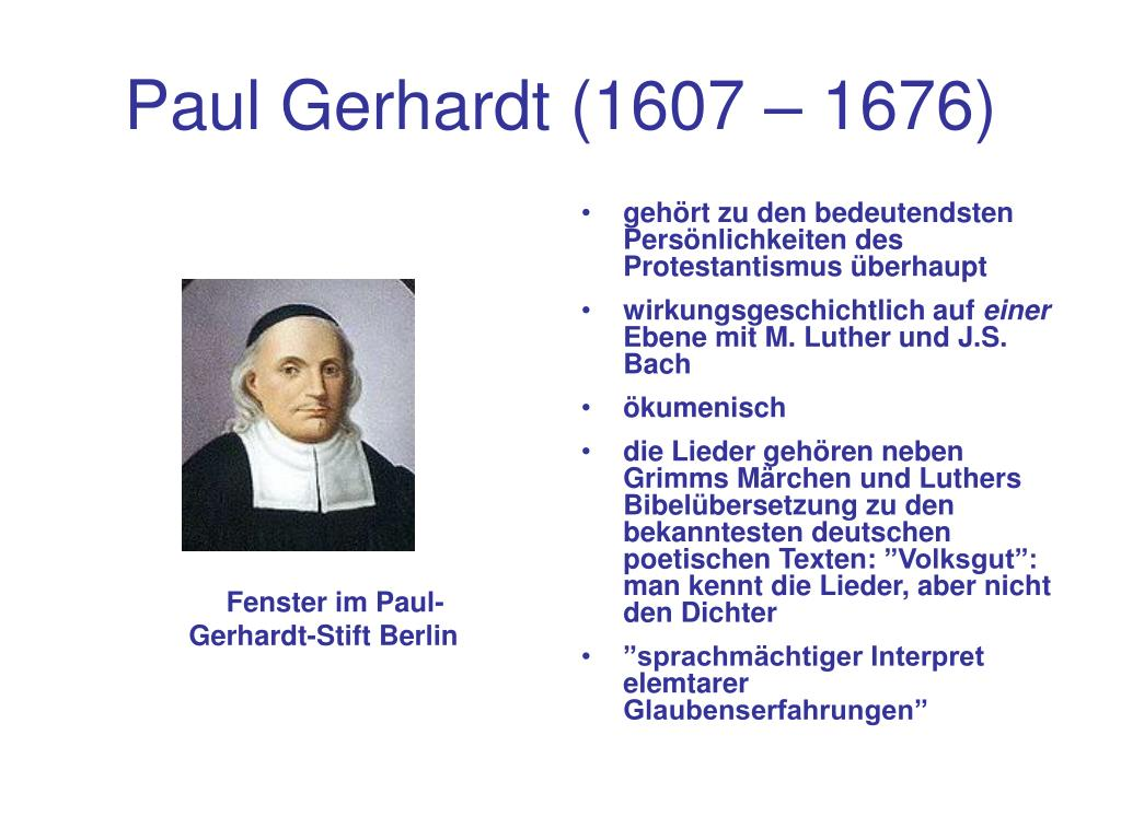 paul gerhardt 1607 1676