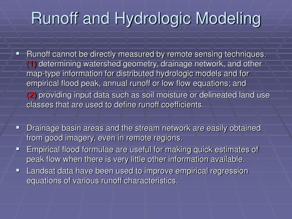 Runoff and Hydrologic Modeling