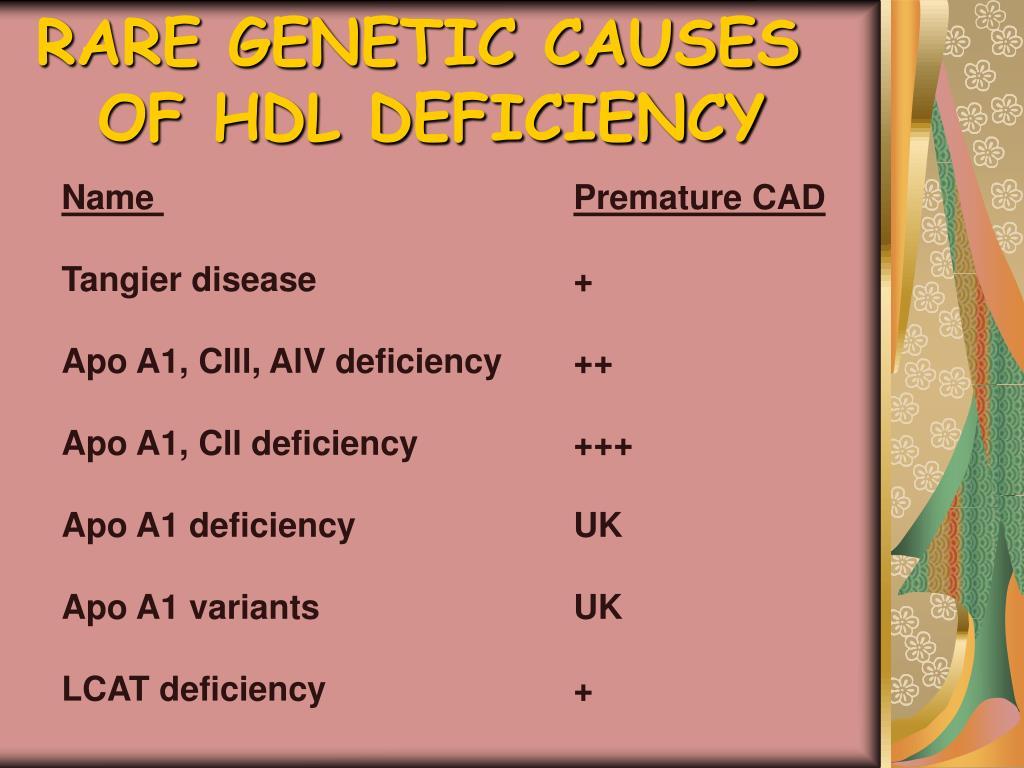 RARE GENETIC CAUSES