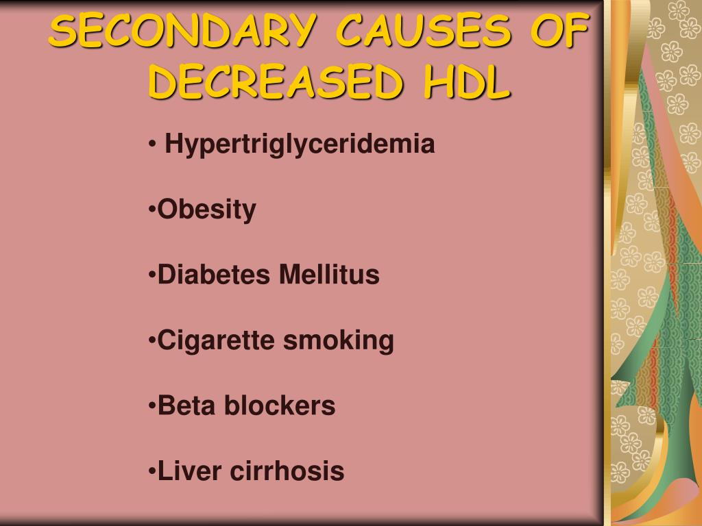 SECONDARY CAUSES OF