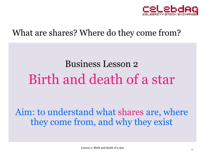 Business Lesson 2
