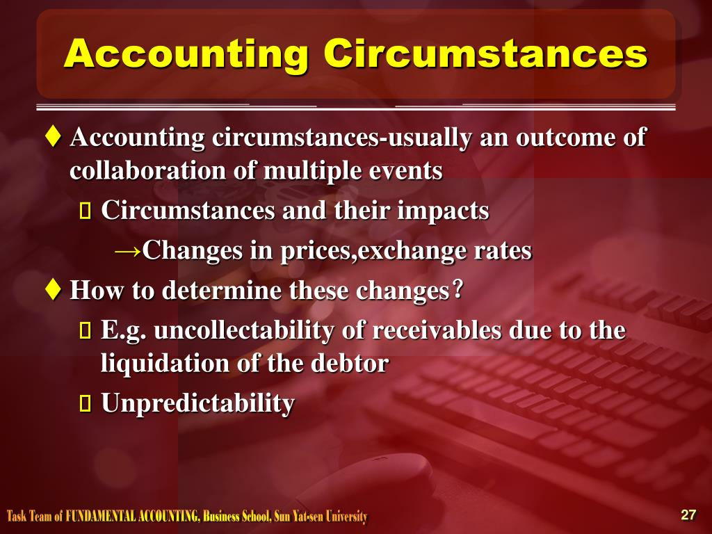 Accounting Circumstances