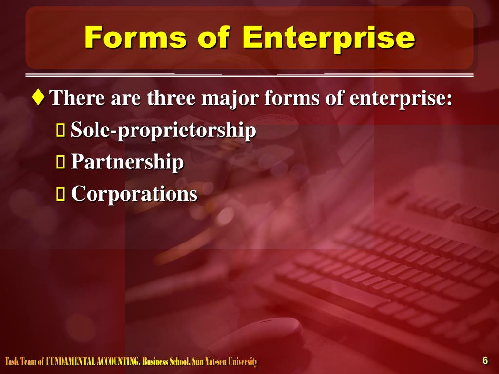 Forms of Enterprise