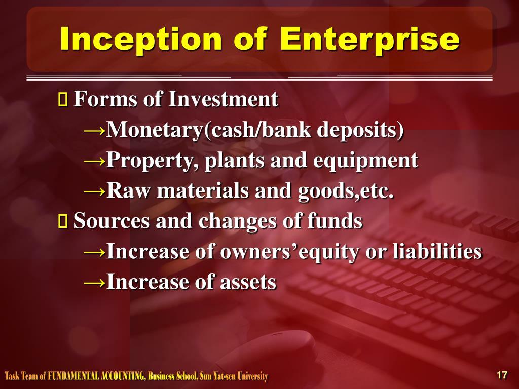 Inception of Enterprise