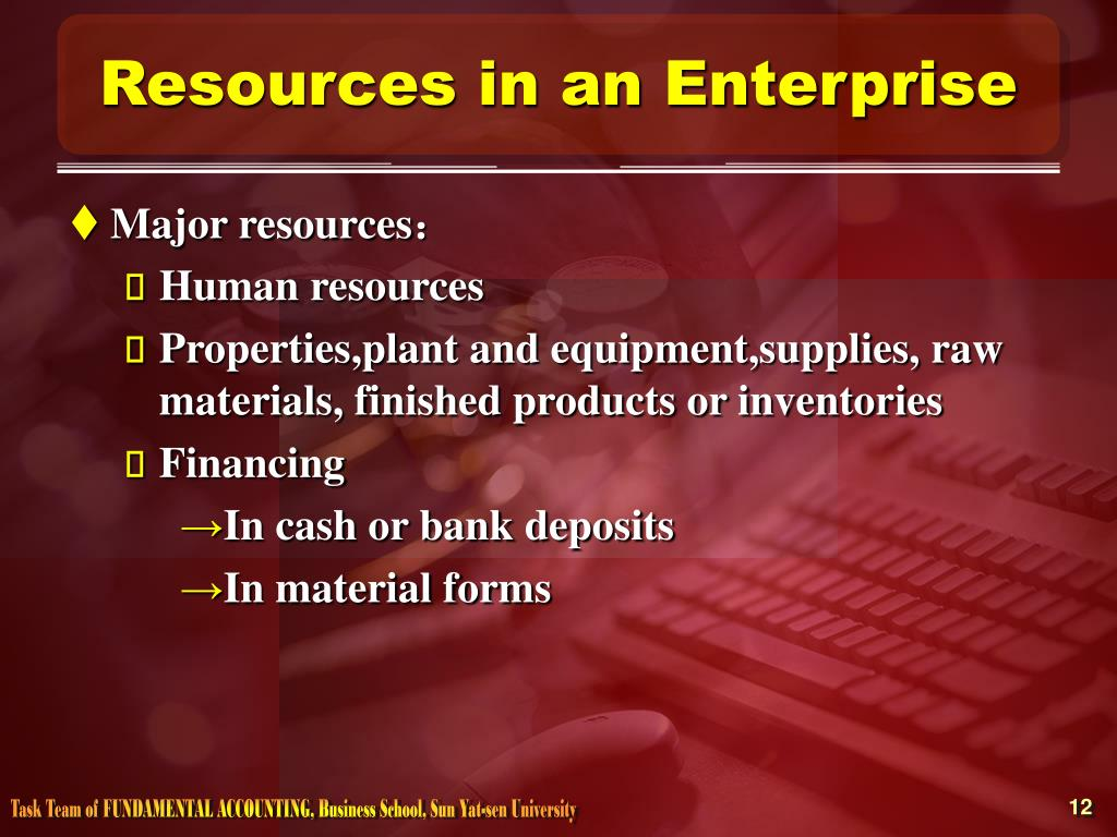 Resources in an Enterprise