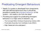 predicating emergent behaviours