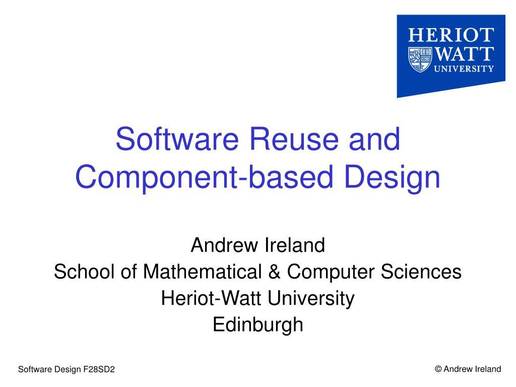 software reuse and component based design