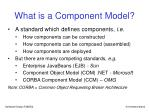 what is a component model