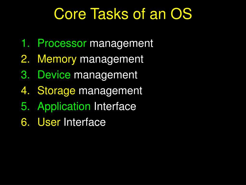 Core Tasks of an OS