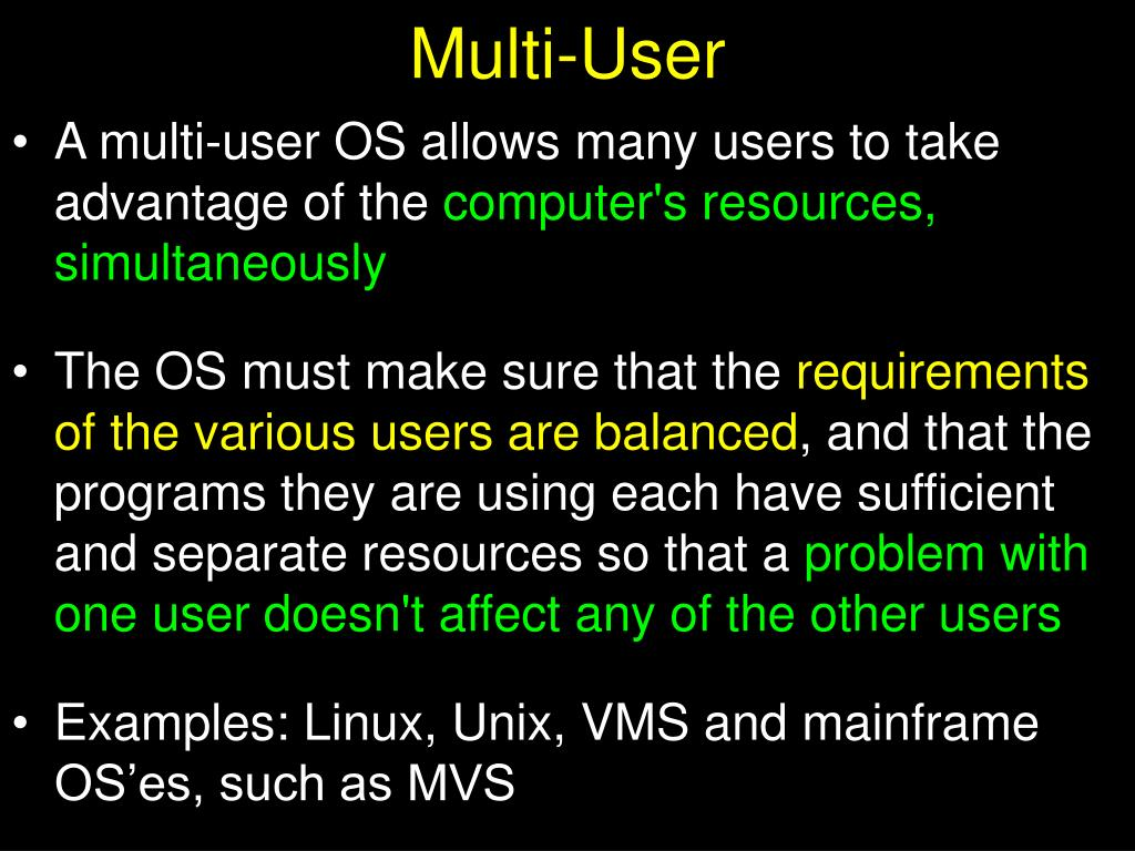 Multi-User