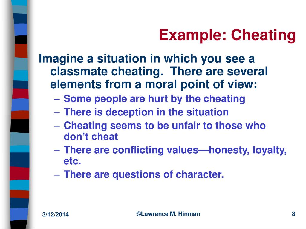 Example: Cheating