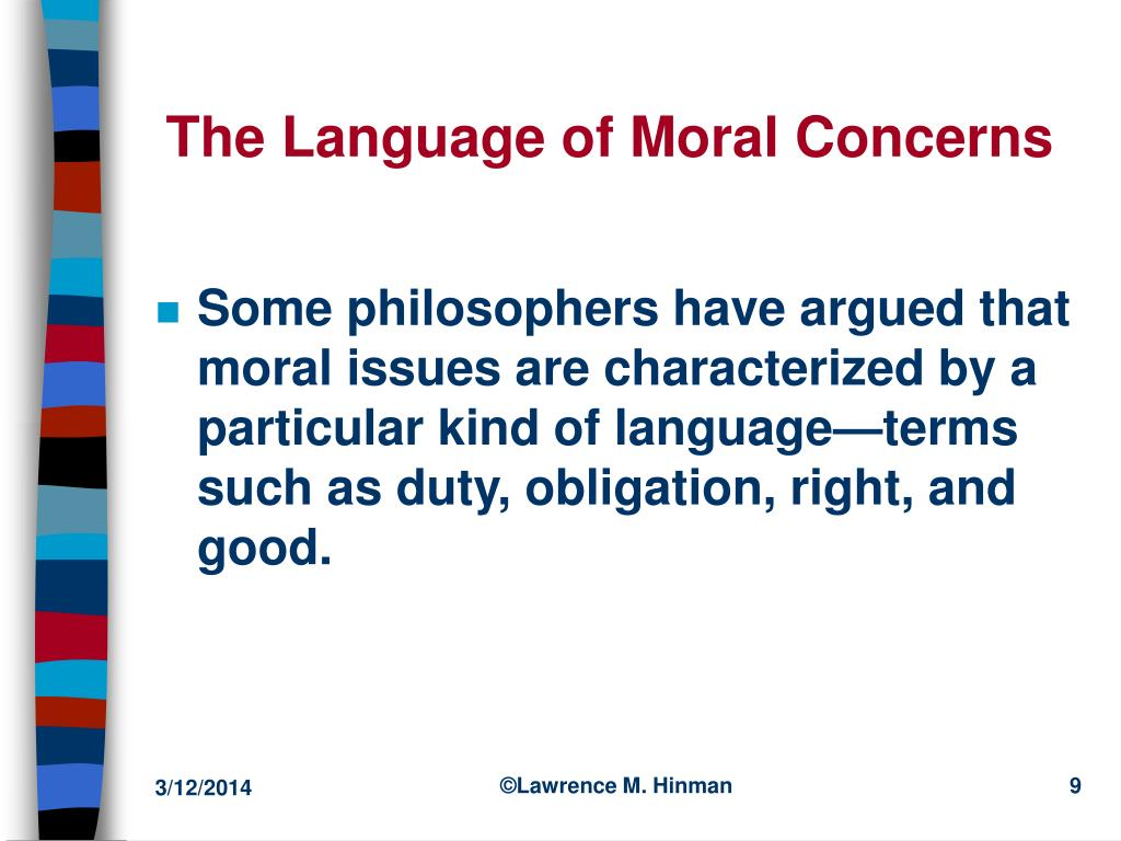 The Language of Moral Concerns
