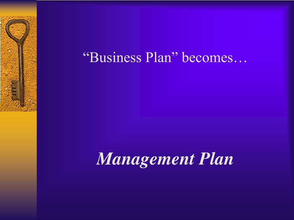 """""""Business Plan"""" becomes…"""