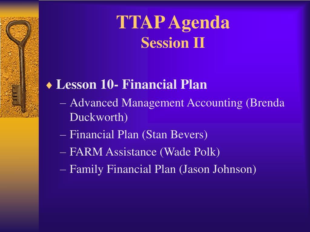 TTAP Agenda