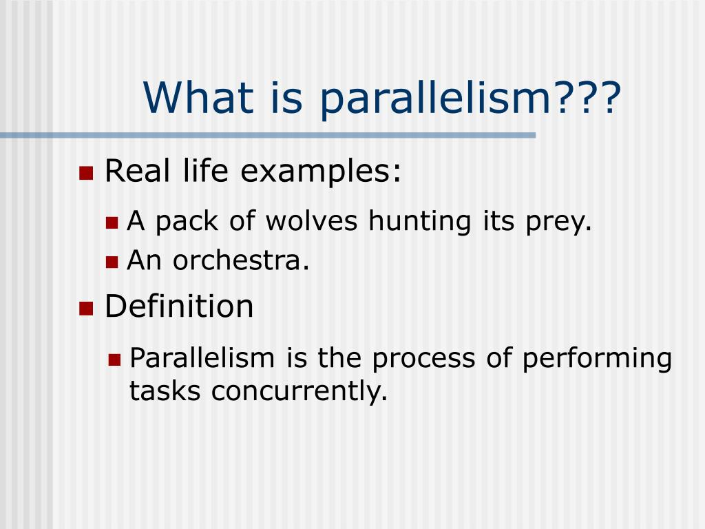 the theory of parallelism Parallel distributed processing theory is a cognitive theory that proposes students learn through neural connections between the multiple.