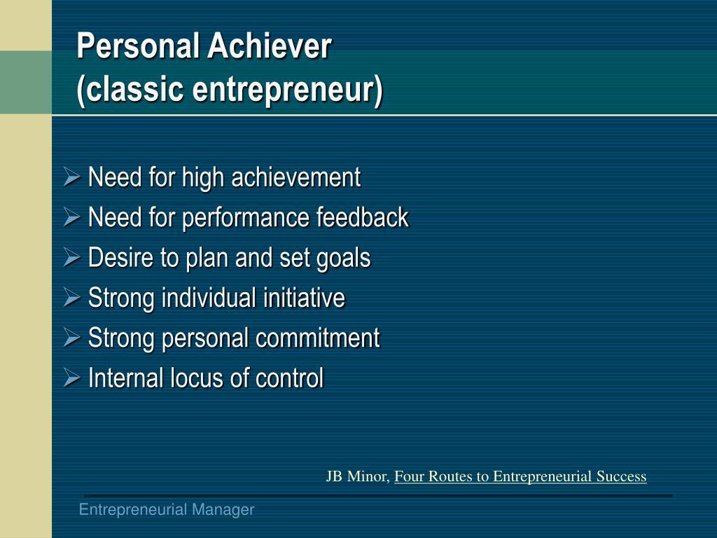 Personal Achiever