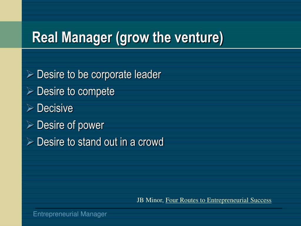 Real Manager (grow the venture)