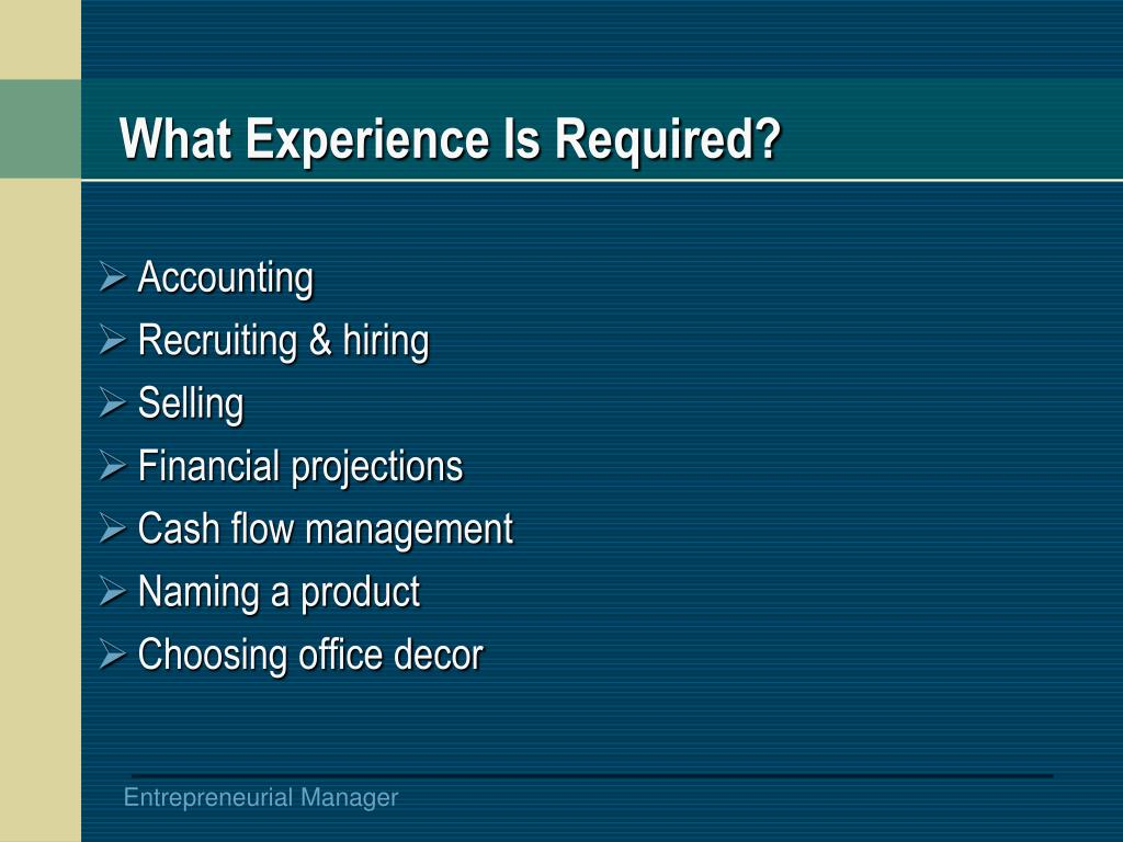 What Experience Is Required?