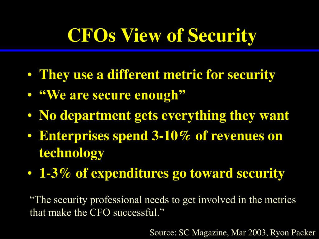 CFOs View of Security
