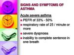 signs and symptoms of asthma31