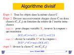 algorithme divisif