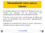 dissimilarit entre micro classes