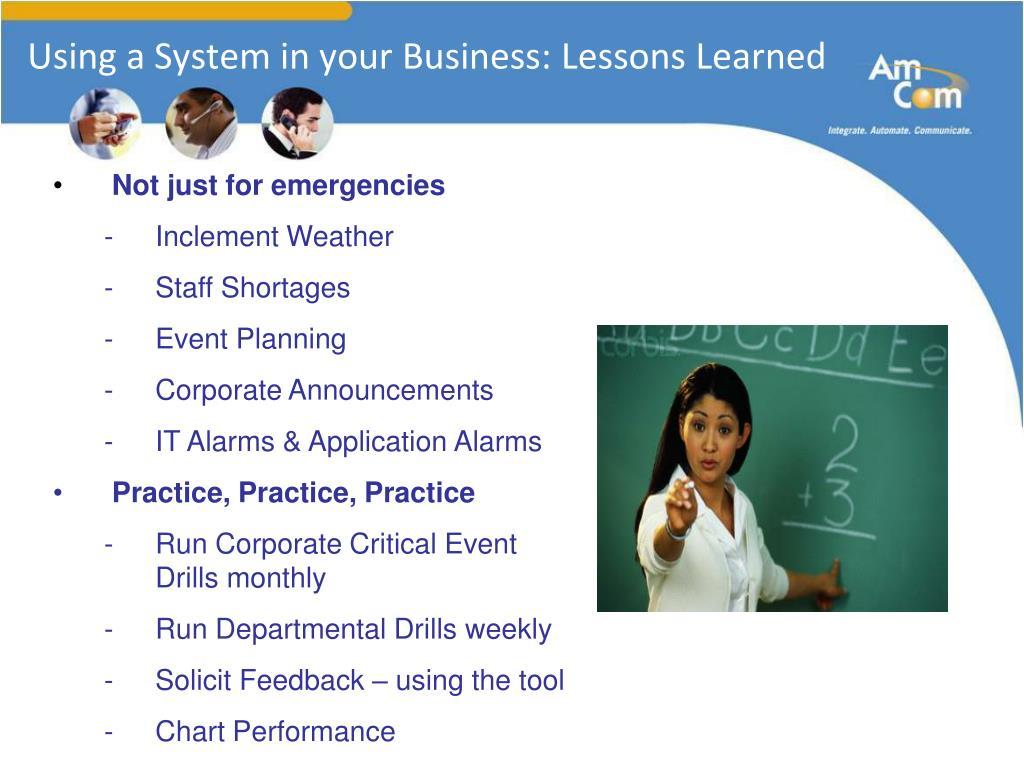 Business presentation lessons