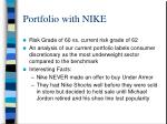 portfolio with nike
