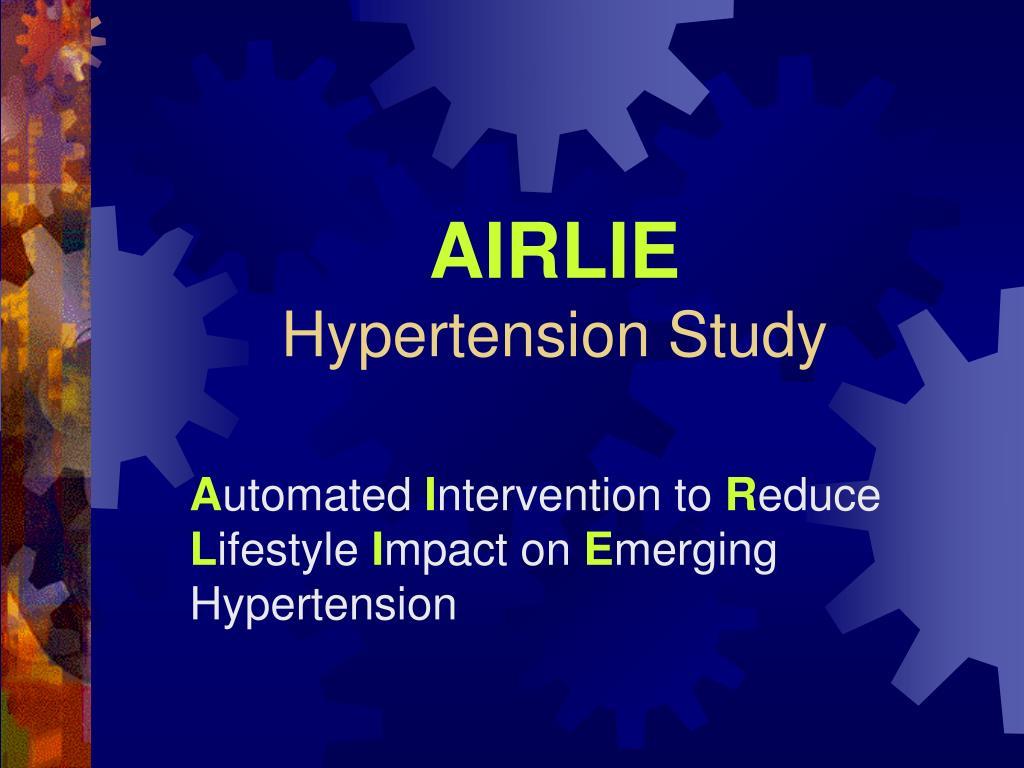 airlie hypertension study