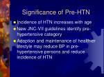significance of pre htn