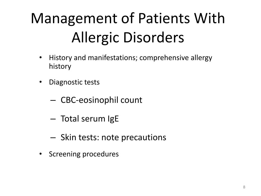 Management of Patients With