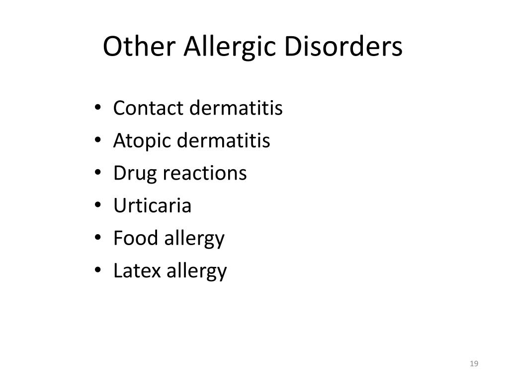 Other Allergic Disorders