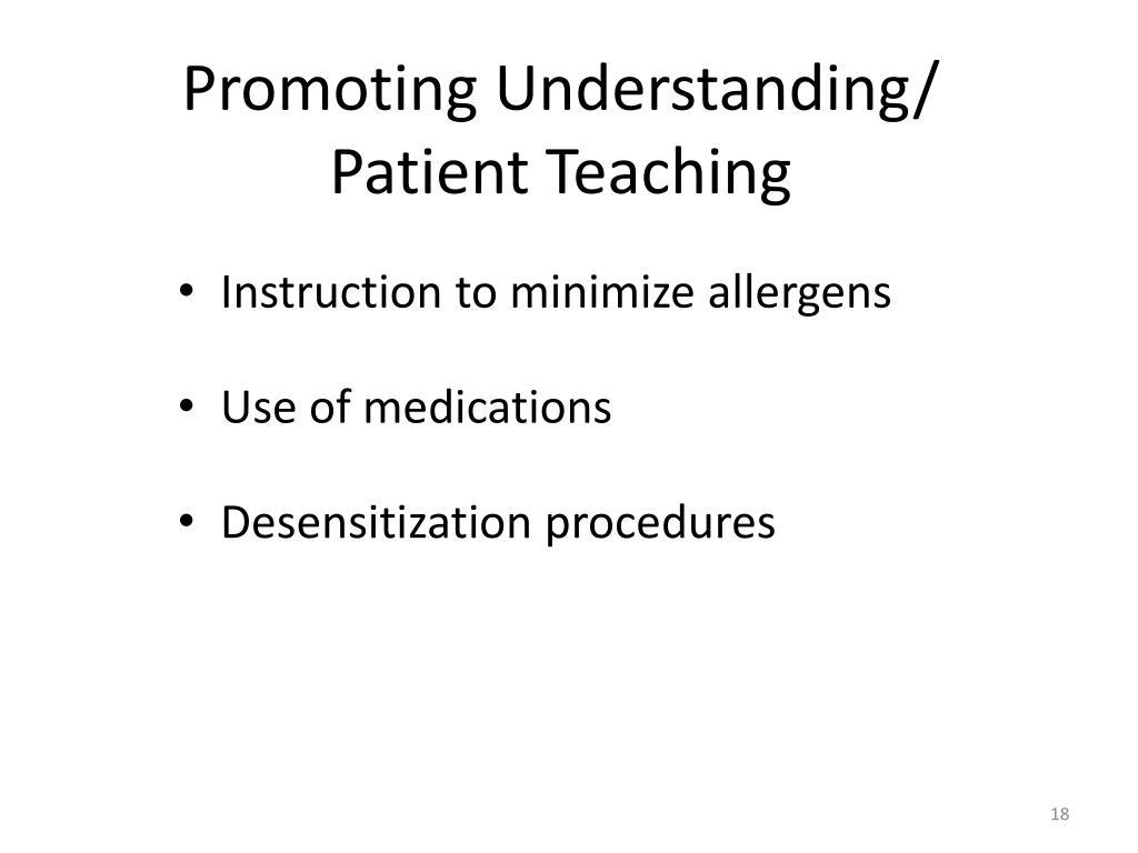 Promoting Understanding/