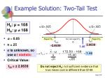 example solution two tail test