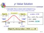 p value solution51