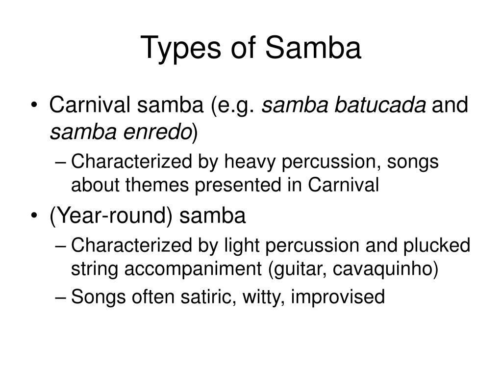 Types of Samba