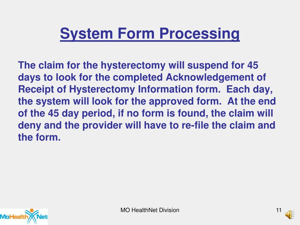 System Form Processing