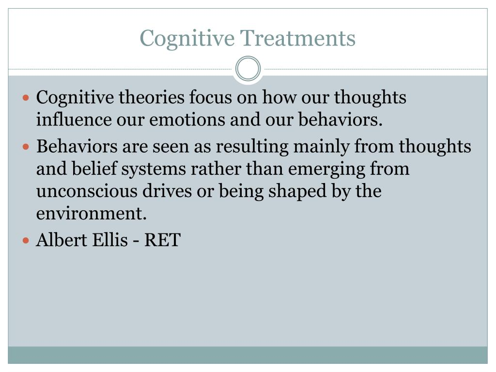 Cognitive Treatments