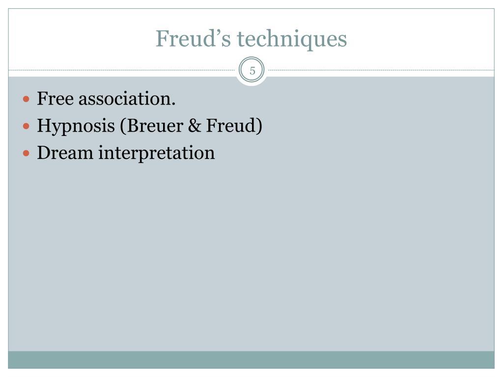 Freud's techniques