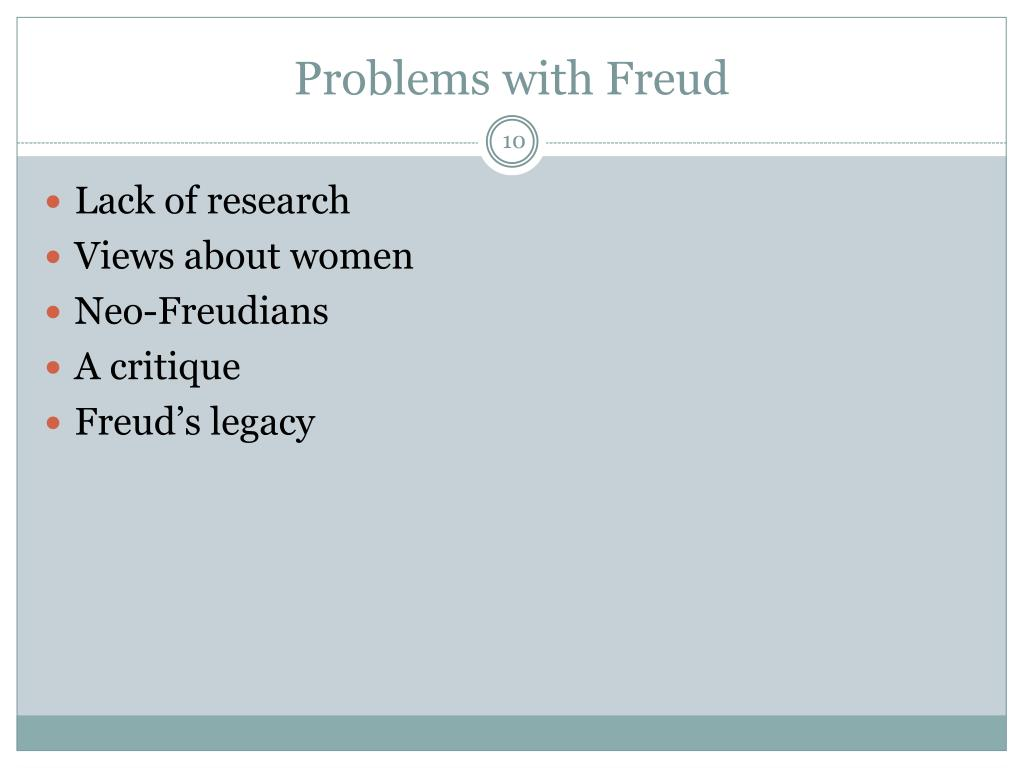 Problems with Freud