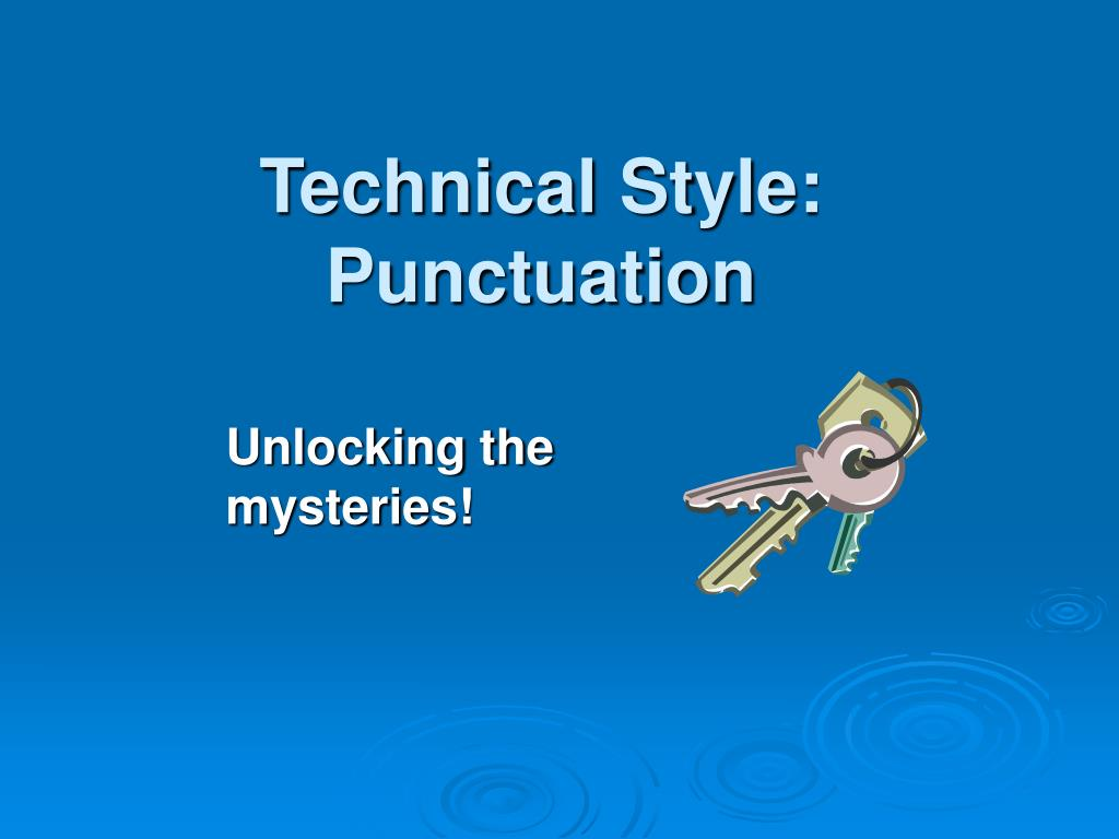 technical style punctuation