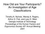 how old are your participants