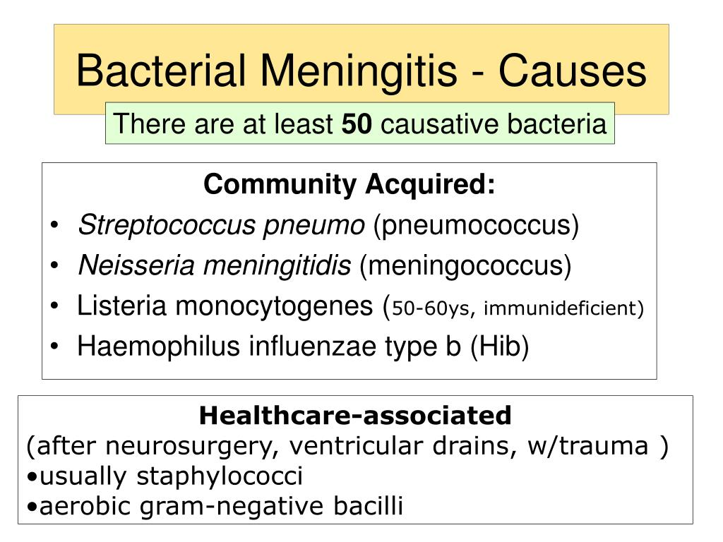Bacterial Meningitis - Causes